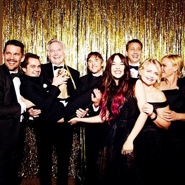 "Best Motion Picture, Drama, ""Boyhood"" #goldenglobes (Photo by @ellenvonunwerth)"