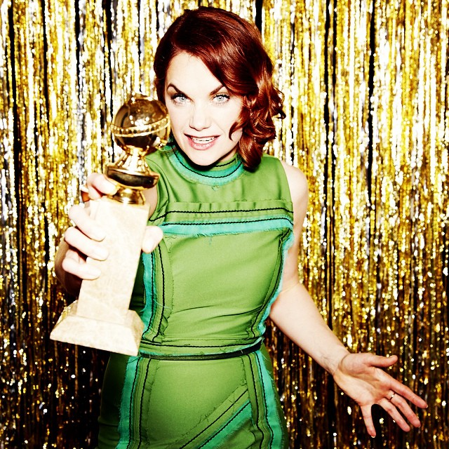 "Ruth Wilson -- Best Actress in a TV Series, Drama, ""The Affair"" #goldenglobes (Photo by @ellenvonunwerth)"