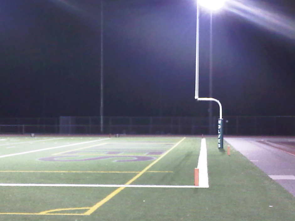 An empty football field, shot with an iPhone. Photo Courtesy of Jan Klier.