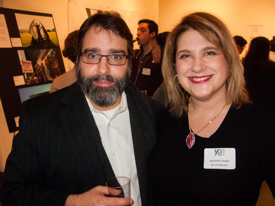 Left to right: Robert Johnston, Michelle Kawka