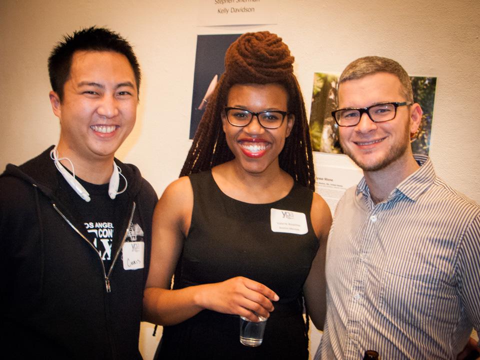 Left & center:  Christopher Lee, Valerie Anselme